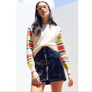 UO Silence+ Noise Striped sleeve sweater